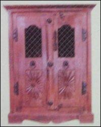 Durable Wooden Cabinet With Grille Door