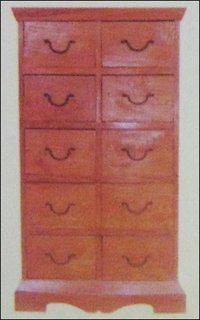 Ten Drawer Wooden Cabinet