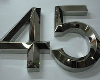 3-D Stainless Steel Letter