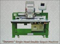 Single Head Doublee Sequin Machine