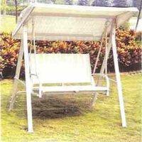 White Swing Bench