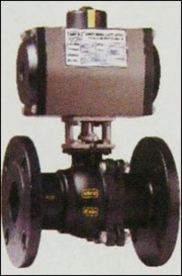 2 Pc. Ball Valve With Pneumatic Rotary Actuator