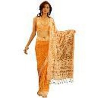 Butti Lucknowi Netted Saree