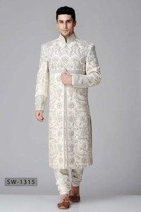 Silk Wedding Shervani