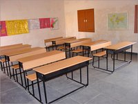 Wooden School Desks