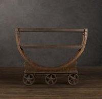 Vintage Wallpaper Factory Bar Cart