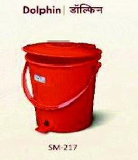Red Color Dustbin