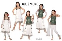 Latest All In 1 Model Girls Skirt And Tops