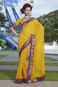 Partywear Chiffon Saree