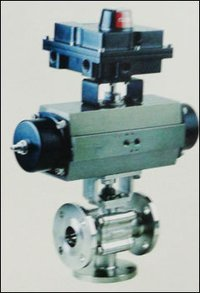 Three Way Shut Off Ball Valve With Actuator