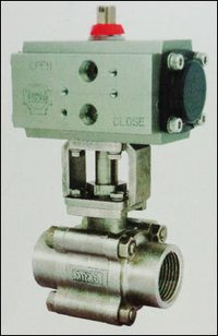 Screwed End Ball Valve With Actuator
