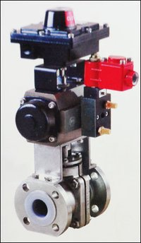 Lined Ball Valve With Actuator