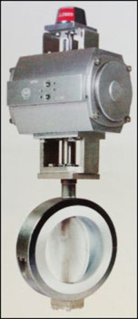 Lined Butterfly Valve With Actuator