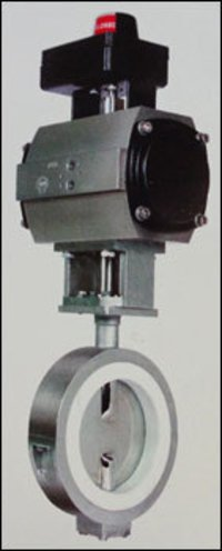 Metal House Butterfly Valve With Actuator