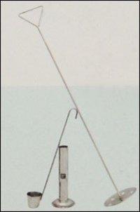 Stainless Steel Funnel Plunger-Sampler And Lactometer Jar