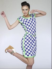 Ladies Checked Dress