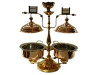 Twin Chafing Dish Copper