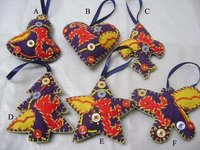 Handcrafted Fabric Christmas Ornaments