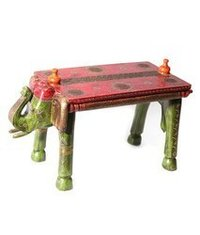 Wooden Handcrafted Elephant Bench
