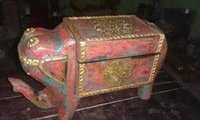 Wooden Antique Elephant Shaped Box