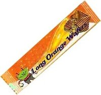 Long Orange Wafer Biscuits