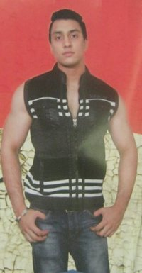 Mens Articles In Stripes Designer Sleeveless Sweaters