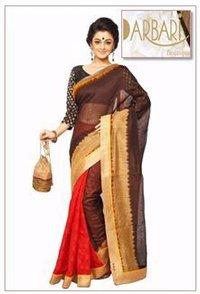 Designer Half And Half Chanderi Saree