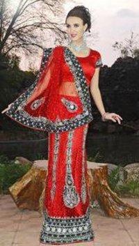Net Fabric Lehenga Style Saree