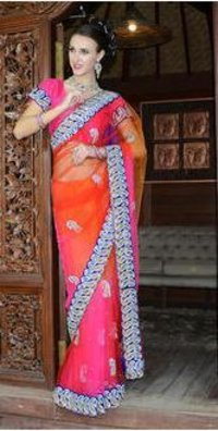 Net Fabric Velvet Zarkan Buti Saree