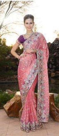 Banarasi Khaddi Saree With Resham Blouse