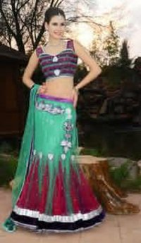 Net Indo Western Dress Short Pallu With Stitch Blouse Saree