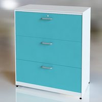 3 Drawers Metal Lateral Cabinet