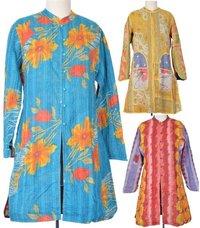 Vintage Kantha Long Reversible Jacket