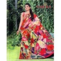 Digital Print Floral Saree