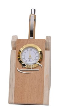 Wooden Pen Stand DW 353 P With Watch