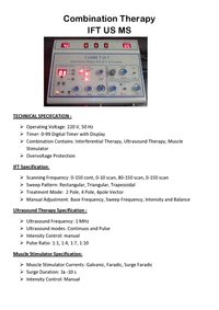 Combination Therapy System (IFT, US, MS)