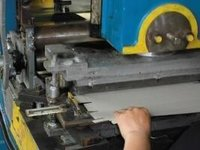 Metal Blade Machine For Aluminum Foil Rolls Packaging Box