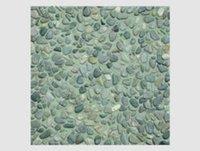 Green Pebbles On Green Base Tile
