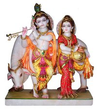 Krishna Standing With Cow Statue