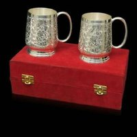 Silver Plated Beer Mugs