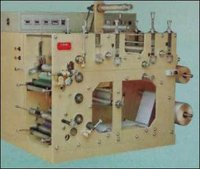 Two Colour Flexo Rotary Label Printing Press with 3 Die cutting Stations (Jandu CD-1523)