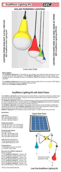 Lighting Kit with Solar Power