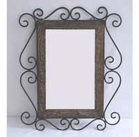 Wood Iron Mirror