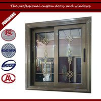 Double Tempered Glass For Office Aluminum Sliding Window