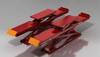 Hydraulic Scissor Lift With Wheel Alignment Function