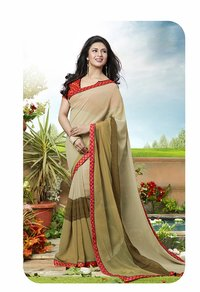 Beige And Multi Color Printed Saree