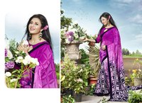 Pink And Multi Color Printed Saree