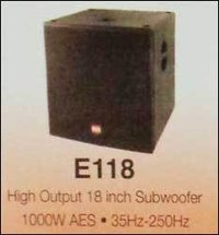 High Output Subwoofer (18 Inch)
