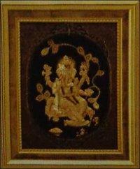 Golden Leaf Ganesh Frame