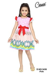 Cotton Designer Girls Frock